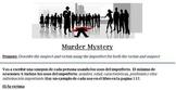 Murder Mystery Imperfect v Preterite Spanish 2
