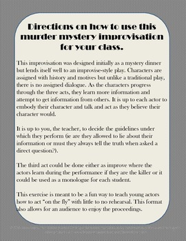 Murder Mystery Improvisation Play for Drama: The Wicked Wild West