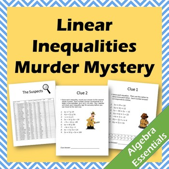 Murder Mystery! - Linear Inequalities