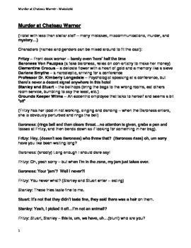Murder Mystery Script