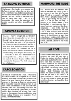 Murder Mystery - Solve the murder mystery by Agatha Christie
