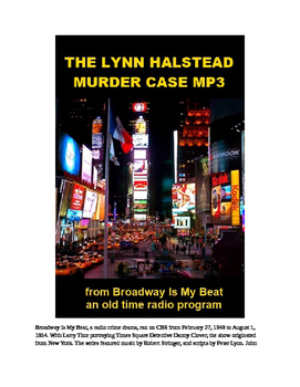 Murder Mystery mp3 - The Lynn Halstead Murder Mystery