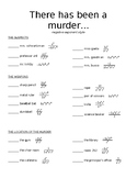 Murder Mystery with Negative Exponents (version 1)