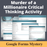 Murder of a Millionaire Distance Learning Mystery