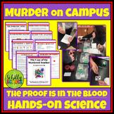 CSI Blood Lab : Forensic Blood spatter & Blood types- Digital Version Added 2021
