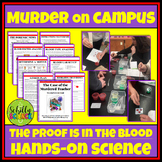 CSI Blood Lab : Forensic Blood spatter & Blood types- Digi