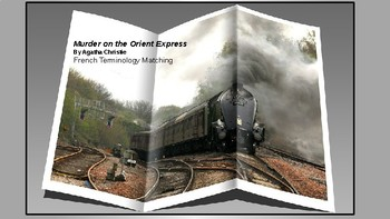 Murder on the Orient Express French Terminology matching game.