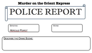 Murder on the Orient Express Google Map Activity, Police Report and More!