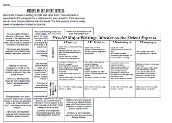 Murder on the Orient Express Novel Study Literary Analysis