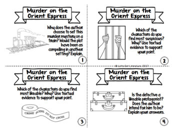 Murder on the Orient Express Task Cards