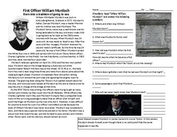 Murdoch - Officer on Titanic