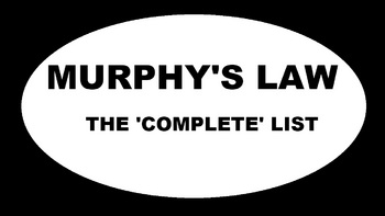 Murphy's Law - The 'Complete' List