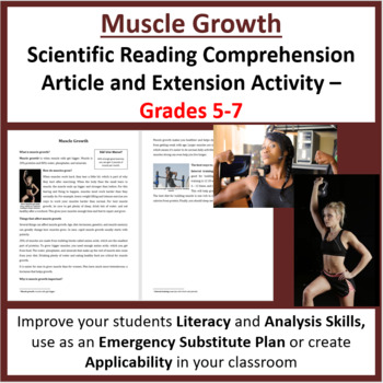 Muscle Growth - Reading Article - Grades 5-7