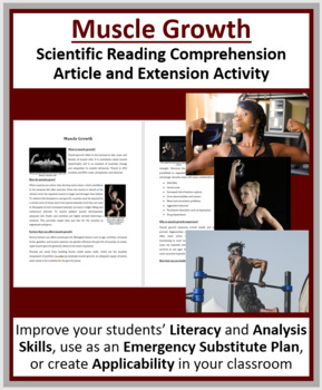 Muscle Growth - Science Reading Article - Grade 8 and Up