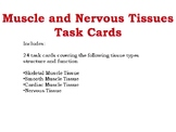 Muscle and Nervous Tissue Task Cards