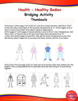 Muscles And Bones With Skin All Around - Song(Mp3), Lesson Materials, Printables