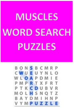Muscles Word Search Puzzles