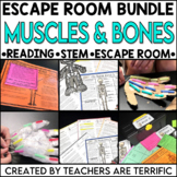 Muscles and Bones Reading and Escape Room Bundle