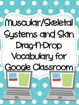 Muscular/Skeletal Systems and Skin Drag-n-Drop Vocab for Google Classroom