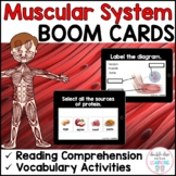 Muscular System - BOOM CARDS™ for Distance Learning