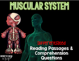 Muscular System Differentiated Nonfiction Reading Passages