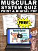 FREE Download Muscular System Worksheet, Human Body Systems Grade 5