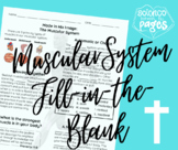 Muscular System Fill-in-the-Blank Notetaking Guide