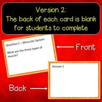 Muscular System Flash Cards