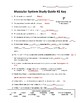 Muscular System Study Guide #2 for Human Anatomy & Physiology