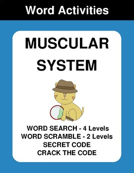 Muscular System Word Search Worksheets & Teaching Resources