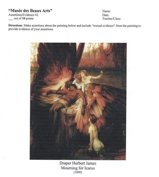 Musée des Beaux Arts by Auden 11-12th CCS Poetry Exemplar
