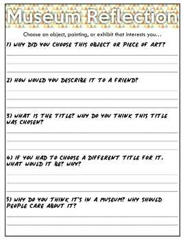 museum field trip questions worksheet free by mrwatts tpt. Black Bedroom Furniture Sets. Home Design Ideas