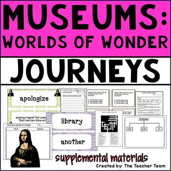 Museums: Worlds of Wonder Journeys 4th Grade Unit 6 Lesson 28 Activities
