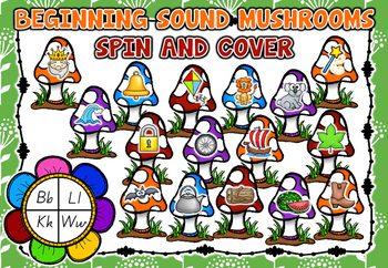 Mushroom Beginning Sounds - Literacy Centre