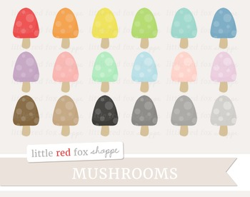 Mushroom Clipart; Nature, Fall, Toadstool