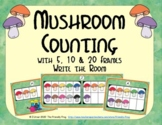 Mushroom Counting with 5, 10 & 20 Frames {Subitizing}