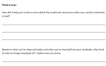 Mushroom Dissection IEP student handout
