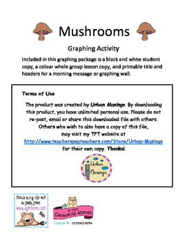 Mushroom Graphing Activity
