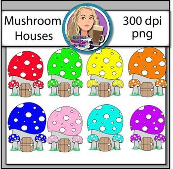 Mushroom Houses Clipart