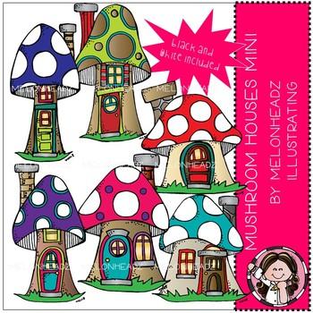 Mushroom Houses clip art - Mini - by Melonheadz