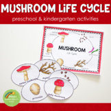 Mushroom Life Cycle - Preschool Kindergarten Science Centers