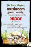 Mushroom Poster - Available in English and Spanish!
