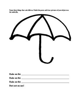 Mushroom in the Rain:  Language Development and Fine Motor Activities