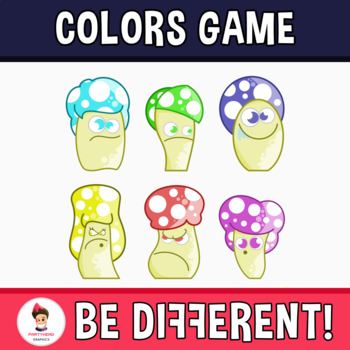 Mushrooms With Colors Clipart