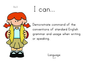 Music 1st grade English Common core standards posters
