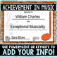 Music Achievement Awards -Color and BW/Ink-Saver - *EDITABLE*