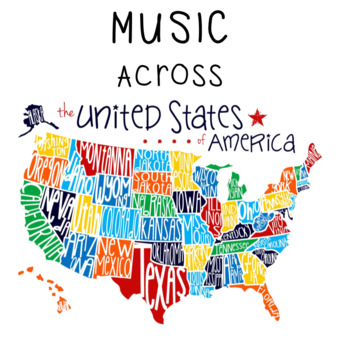Music Across America - 2 per page BUNDLE