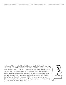 Music Across America - 1 per page B&W