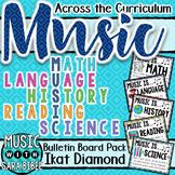 Music Across the Curriculum Posters- Bright Ikat Diamond