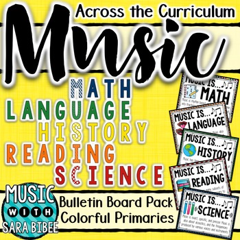 Music Across the Curriculum Posters- Colorful Primaries